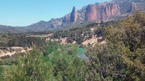 Río Gállego y los Mallos de Riglos